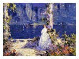 The Lights Across the Water Giclee Print by Tom Mostyn