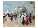 Rendezvous near the Grand Palais, Paris Giclee Print by Carlos Alonso Perez