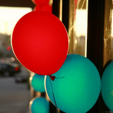 Bright Balloons Photo by Nicole Katano