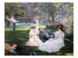 Im Park Giclée-Druck von Leon Victor Minot
