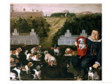 Dogs Belonging to the Medici Family in the Boboli Gardens Giclee Print by Tiberio Di Tito