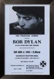 Bob Dylan, Carnegie Hall, 1961 Framed Canvas Print