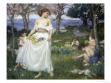 Song of Springtime, c.1913 Giclée-Druck von John William Waterhouse