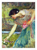 Gathering Roses Giclee Print by John William Waterhouse