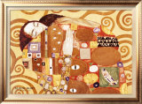 Erfullung Print by Gustav Klimt