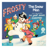 Frosty Snowman Tops Photographic Print