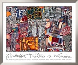 Theatre de Memoire, 1977 Prints by Jean Dubuffet