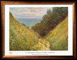 Road At La Cavee Print by Claude Monet