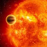 Stocktrek Images - Gas-Giant Exoplanet Transiting Across the Face of Its Star Fotografická reprodukce