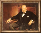 Sir Winston Churchill Prints by Arthur Pan