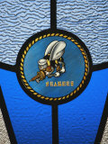 A Single Seabee Logo Built Into a Stained-Glass Window, Al Asad, Iraq Photographic Print by Stocktrek Images
