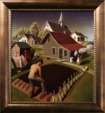 Spring in Town Poster by Grant Wood