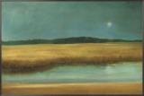 Harvest Moon Framed Canvas Print by Caroline Gold