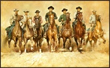 Magnificent Seven Framed Canvas Print by Renato Casaro
