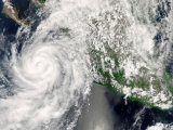 Hurricane Henriette Moving up the Pacific Coast, September 3, 2007, Photographic Print