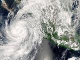 Hurricane Henriette Moving up the Pacific Coast, September 3, 2007 Impressão fotográfica por Stocktrek Images