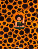 Sunflower Wall Affiches par Anne Geddes