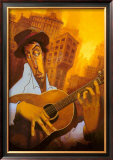 El Guitarrista Poster by Justin Bua