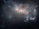 Magellanic Dwarf Irregular Galaxy NGC 4449 in the Constellation Canes Venatici Photographic Print by  Stocktrek Images