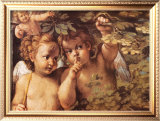 Whispering Angel Print by Agostino Carracci