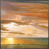 Quiet Horizon II Framed Canvas Print by Dan Werner