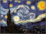 Starry Night, c.1889 Framed Canvas Print by Vincent van Gogh