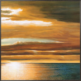 Reflections on the Sea II Framed Canvas Print by Dan Werner