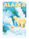 Alaska Polar Bears on Iceberg Prints by  Lantern Press