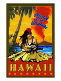 Aloha from Waikiki, Hawaii Prints by  Lantern Press