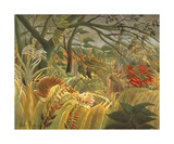 Tiger In A Tropical Storm Premium Giclee Print by Henri Rousseau