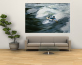 Whitewater Kayaker Surfing Standing Wave, Lochsa River, Idaho Wall Mural by Skip Brown