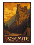 Sentinel, Yosemite National Park, California Prints by  Lantern Press
