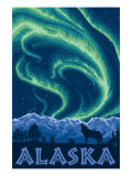 Alaska Northern Lights and Wolf Prints