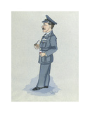 The Wing Commander Premium Giclee Print by Simon Dyer