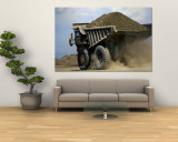 A Dump Truck Carrying Gravel Kicks up a Cloud of Dust Wall Mural by Raymond Gehman