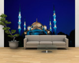 The Blue Mosque of Sultan Ahmed I and Hagia Sophia or Ayasofya, Istanbul, Istanbul, Turkey Wall Mural – Large by Izzet Keribar