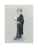 The Barrister Premium Giclee Print by Simon Dyer