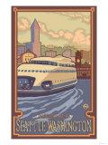 Kalakala Ferry, Seattle, Washington Prints