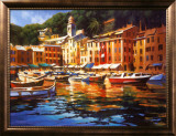 Portofino Colors Print by Michael O'Toole