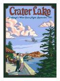 Lindbergh's West Coast Flight, Crater Lake, Oregon, c.1927 Prints by  Lantern Press