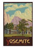 Ahwahnee Lodge, Yosemite National Park, California Kunst von  Lantern Press