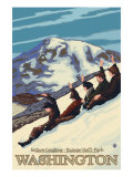 Nature Coasting, Mt. Rainier National Park, Washington Prints by  Lantern Press