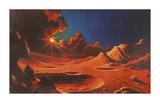 Stellar Radiance Premium Giclee Print by David Hardy