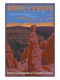 Thor's Hammer, Bryce Canyon, Utah Kunstdrucke von  Lantern Press