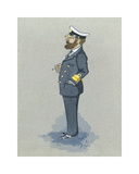 The Naval Captain Premium Giclee Print by Simon Dyer