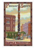 Pioneer Square Totem Pole, Seattle, Washington Prints