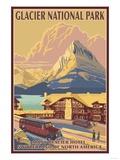 Many Glacier Hotel, Glacier National Park, Montana Affiches