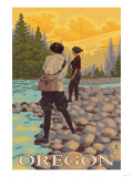 Oregon Women Fly Fishing Prints