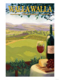 Walla Walla, Washington Wine Country Art by  Lantern Press