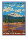 Painted Dunes Scene, Mount Lassen, California Art by  Lantern Press